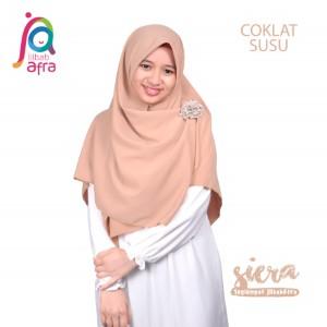 Jilbab Afra Segiempat JAFR - Siera 04 Coklat Susu