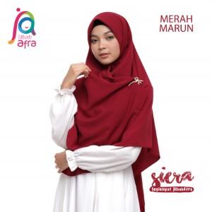 Jilbab Afra Segiempat JAFR - Siera 11 Merah Marun