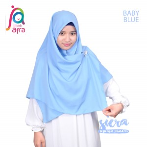 Jilbab Afra Segiempat JAFR - Siera 12 Baby Blue
