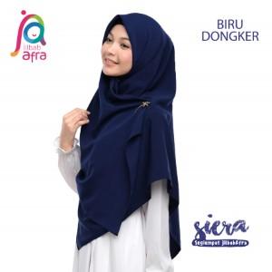 Jilbab Afra Segiempat JAFR - Siera 13 Biru Dongker