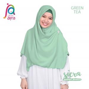 Jilbab Afra Segiempat JAFR - Siera 14 Greentea