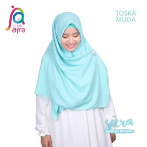 Jilbab Afra Segiempat JAFR - Siera 15 Toska Muda