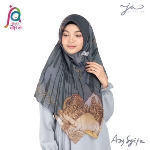 Jilbab Afra Premium Printed Voal Scarf Asysyifa