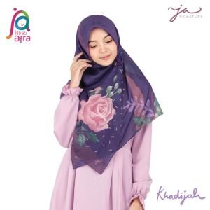 Jilbab Afra Premium Printed Voal Scarf Khadijah