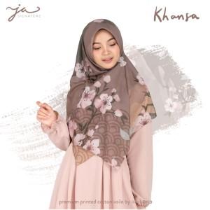 Jilbab Afra Premium Printed Voal Scarf Khansa