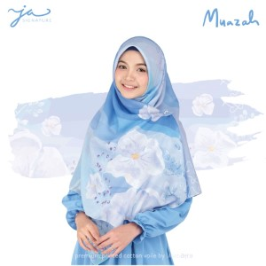 Jilbab Afra Premium Printed Voal Scarf Muazah