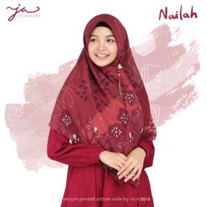 Jilbab Afra Premium Printed Voal Scarf Nailah