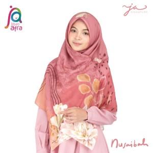 Jilbab Afra Premium Printed Voal Scarf Nusaibah