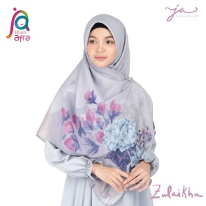 Jilbab Afra Premium Printed Voal Scarf Zulaikha