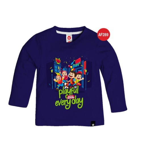 Kaos Anak Muslim Afrakids AFRA - AF289 Playful And Be Good Everyday