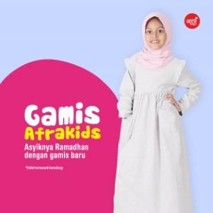 Gamis Anak Afrakids AFRA - GA001 Abu Misty