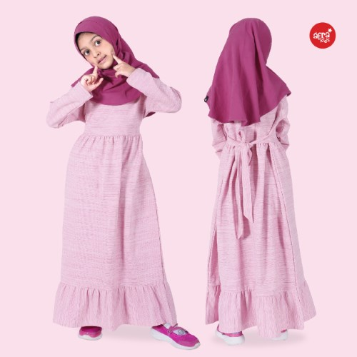 Gamis Anak Afrakids AFRA - GA004 Pink
