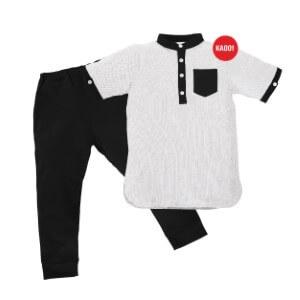 Setelan Baju Koko Anak Afrakids AFRA - KA001 Putih
