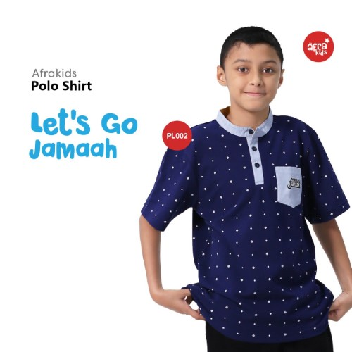 Polo Shirt Anak Afrakids AFRA - PL002 Let's Go Jamaah