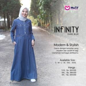 Gamis Dewasa Mutif MTIF - Infinity A Dark Blue