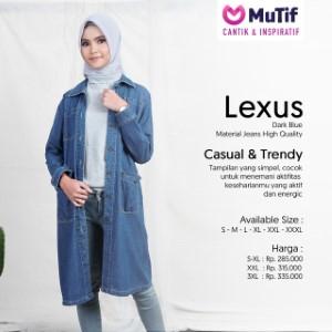 Tunik Dewasa Mutif MTIF - Lexus A Dark Blue
