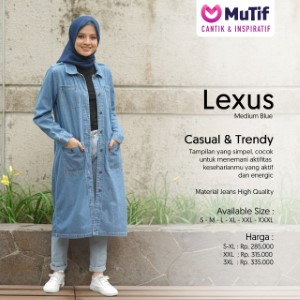Tunik Dewasa Mutif MTIF - Lexus B Medium Blue
