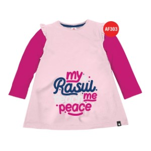 Kaos Tunik Anak Muslim Afrakids AFRA - AF303 My Rasul Teach Me Peace