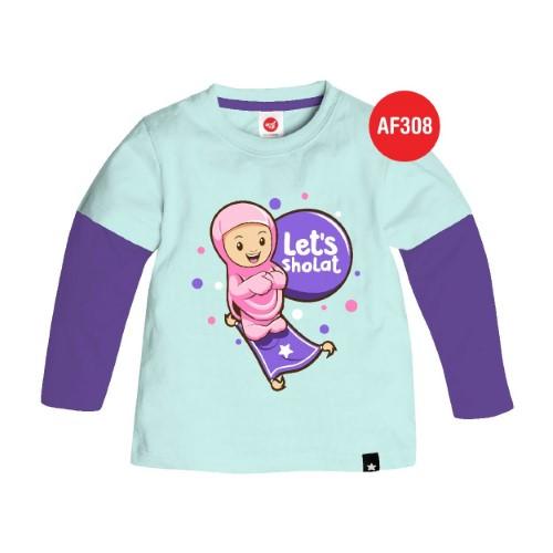 Kaos Tunik Anak Muslim Afrakids AFRA - AF308 Let's Sholat