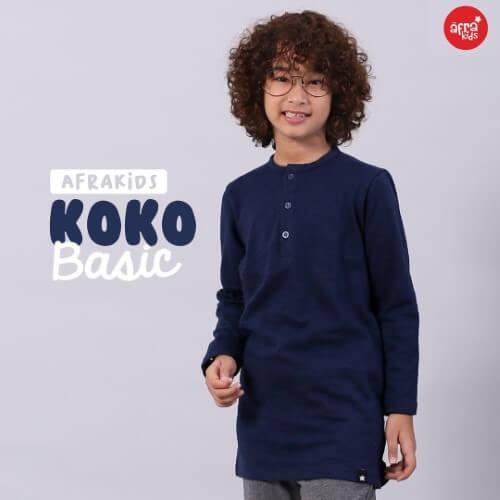 Baju Koko Anak Afrakids AFRA - KK001 Navy