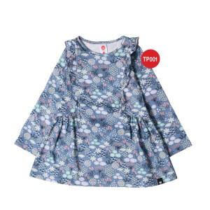 Kaos Tunik Anak Muslim Afrakids AFRA - TP001 Pattern Flowers