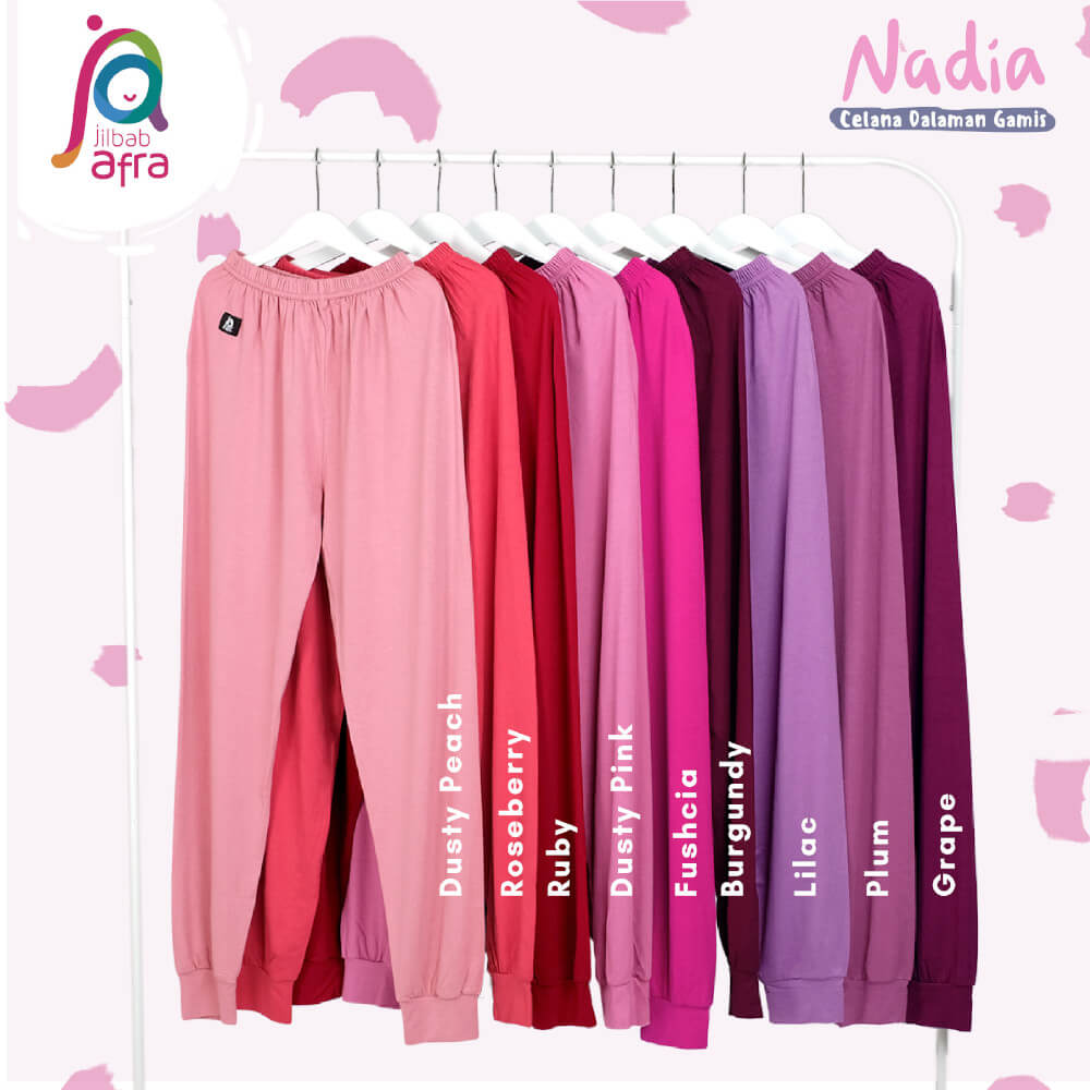 Celana Dalaman Gamis Celamis Jilbab Afra Nadia Bahan Kaos Rayon Hq
